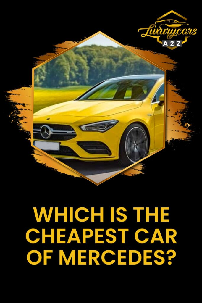 Which is the cheapest car of Mercedes?