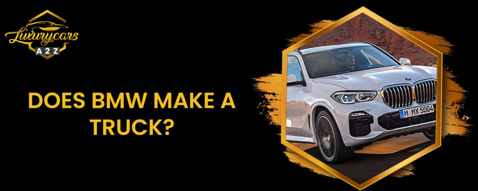 does bmw make a truck